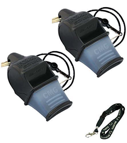 Fox 40 Sonik Blast CMG Loudest Pealess Outdoor, Emergency, Safety, Survival Whistle   2 pack