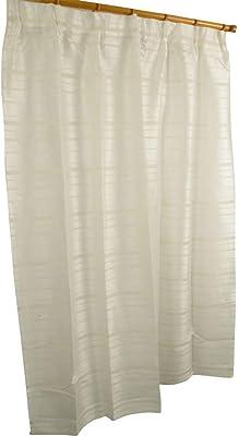 アーリエ(Arie) レースカーテン 2枚組 洗える ライン横 ミラーレース ジュール アイボリー 幅100cm×丈198cm 542894