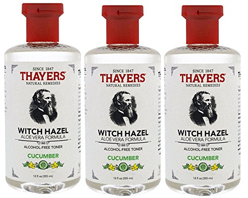 Thayers Alcohol Free Witch Hazel with Aloe Vera, Cucumber 12 oz (Pack of 3)