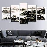 Home Bild Vlies Leinwandbild 5 Teilig 60x40inch 150x100cm