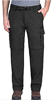 Mens Convertible Lightweight Comfort Stretch Cargo Pants or Shorts