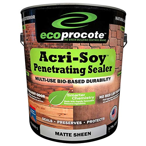 Acri-Soy Penetrating Concrete and Wood Sealer | Grout Sealer | Concrete Countertop Sealer | Natural Matte Sheen (1 Gallon)