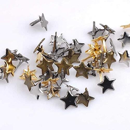 zhuao Sternförmige Clip-on-Schrauben, Buchverschlüsse, Metallverzierte Kunsthandwerke 50pcs / Eine Vielzahl von Farben