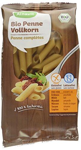 Alnavit Bio Penne Vollkorn-Nudeln, glutenfrei, laktosefrei, 6er Pack (6 x 250 g)