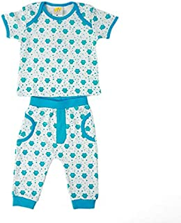 Joynme Boys Clothing Baby Boy Ringo 100% Cotton Set Color- WhiteBlue 12-18 Months