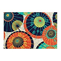 98ピース ジグソーパズル 傘と桜 木製パズル 脳チャレンジ Diyの家の装飾 特別プレゼント 楽しい遊び ピクチュアパズル(20x29cm)