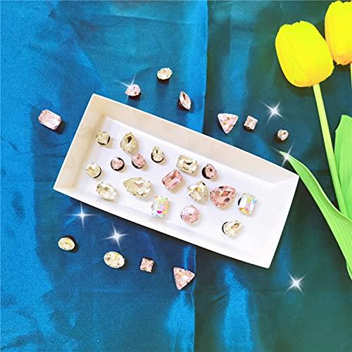 QAZW Charm de Zapatos de Zueco para Niñas, Decoración de Encantos de Zapatos de Flor de Diamantes de Imitación de Perlas Brillantes, Charm Elegante para Pulseras, Muñequeras y Zapatos,Pink-28pcs