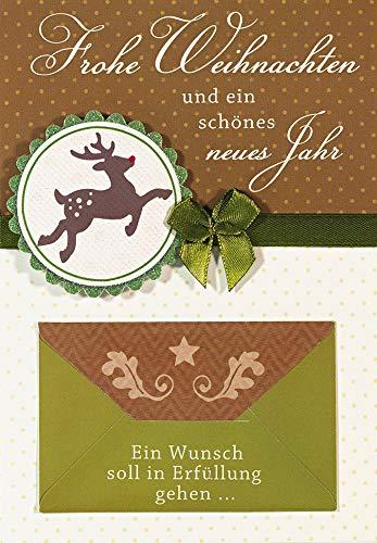 Tarjeta de dinero para Navidad con texto en alemán Sobre: 11,6 x...