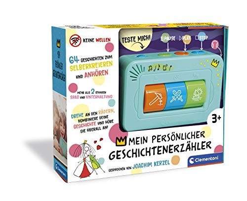Clementoni 59202 Geschichten-Erzähler, interaktive Audio-Unterhaltung, für Kinder ab 3 Jahren, spannende Gute-Nacht-Geschichten, individuelle Lieblingsgeschichten