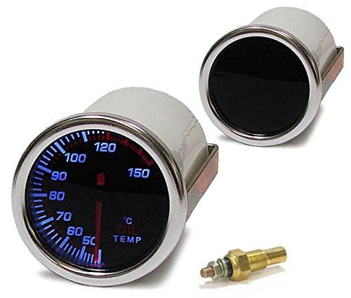 Carparts-Online 11688 Wassertemperatur Anzeige Zusatz Instrument 52mm black Magic