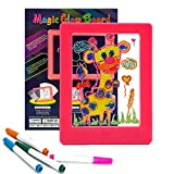 KOOKOOSMART Magic Board for Kids, Light Up Drawing Board , 36 Light Effect, Doodle Board Glow Board for Kids with Highlighter, Led Luminous Gifts, Educational Toys, Suitable for Kids Age 3+ (Pink)