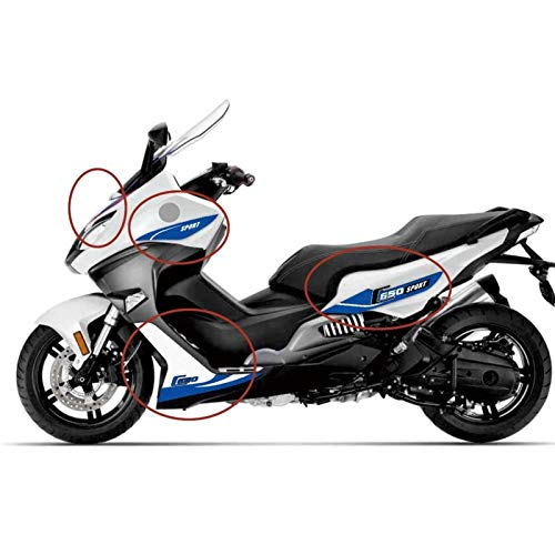 Pedal deportivo de la motocicleta Calcomanías modificadas Pegatinas Completas Cuerpo Decorativo Para BMW C650 Sport C 650 Sport 2019 C650 Pegatinas Accesorio Pegatinas (Color : Dark blue)