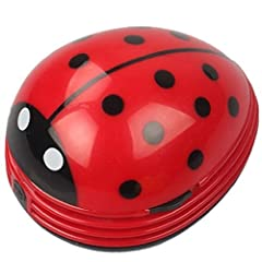 Elegant and Modern Design: suitable for removing dust on the surface of home appliances, laptop, computer keyboard, furniture and car seats etc. Cute Portable Beetle Ladybug cartoon Mini Desktop Vacuum Desk Dust Cleaner Portable and Handheld Design: ...