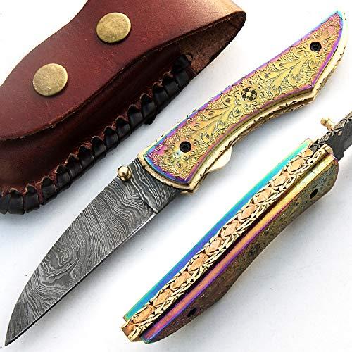 PAL 2000 SJRJ 9515 Titanio Cuchillo de Hoja de Acero de Dama