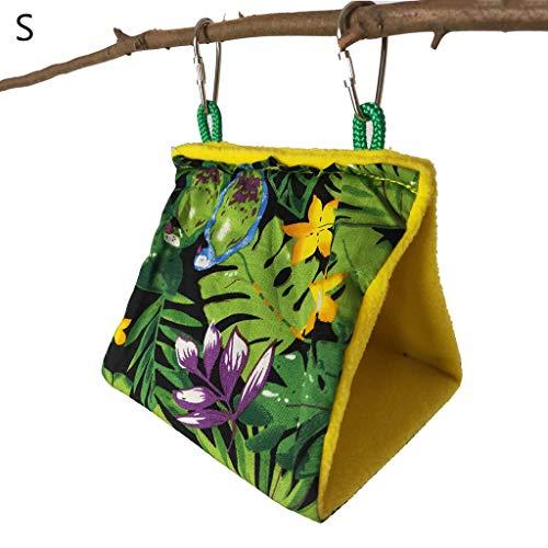 Yyooo Bird Nest, hamaca colgante jaula carpa – suave y cómodo Birdhouses para mascotas pequeñas loros Parakeet Swing Stand