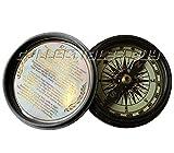 Collectibles Buy Vintage Pocket Marine Brass Round Compass Nautical Black Antique Navigational Device