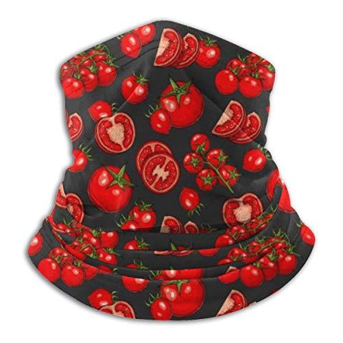 LKQTH Gesichtsmaske mit Tomaten und Gemüse-Muster, für Männer und Frauen