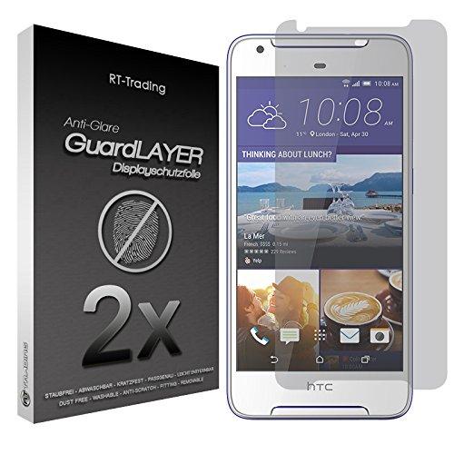 2x HTC Desire 628 - Bildschirm Schutzfolie Matt Folie Schutz Bildschirm Anti Glare Screen Protector Bildschirmfolie - RT-Trading