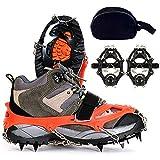 FUVOYA tracción escots Hielo Nieve agarres al Aire Libre 12 Dientes Garra de Zapatos Alpinismo equipados manganeso Acero Anti-Skid Cubiertas y Escalada Cadenas crampones
