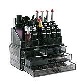 Display4top Caja acrílica Estante de maquillajes Maquillaje Cosméticos...