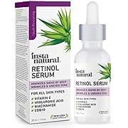 InstaNatural, Retinol Vitamin A Serum with Hyaluronic Acid + Vitamin C, 1 fl oz (30 ml) IST-95473