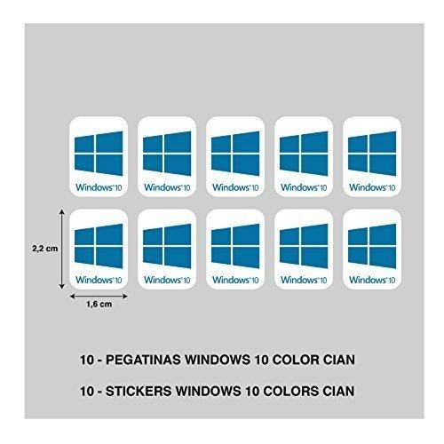 STICKER STICKER ADESIVO AUFKLEBER DECALS STICKERS WINDOWS 10 CYAN PRINTING DIGITAL ALTA CALIDAD 10 eenheden