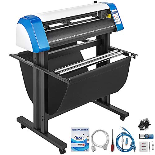 VEVOR Vinyl Cutter 28 inch Vinyl Cutter Machine 720mm Manual Vinyl Printer LCD Display Plotter Cutter Sign Cutting with Signmaster Software