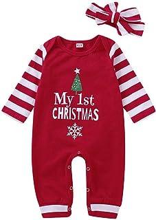 Lanhui Xmas Sunny Baby Boy Girl Letter Romper Tops+Legging Christmas Outfits Set