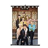 Yovvin BTS KPOP Boys Bantan Photo Card Set Pinturas Colgantes, decoración del hogar y la habitación, 8 Tipos H01