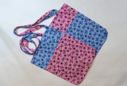 Schmetterlinge Tragetasche Wendetasche rosa hellblau Kindertragetasche Kinderwendetasche Baumwolle Baumwolltasche Tiere