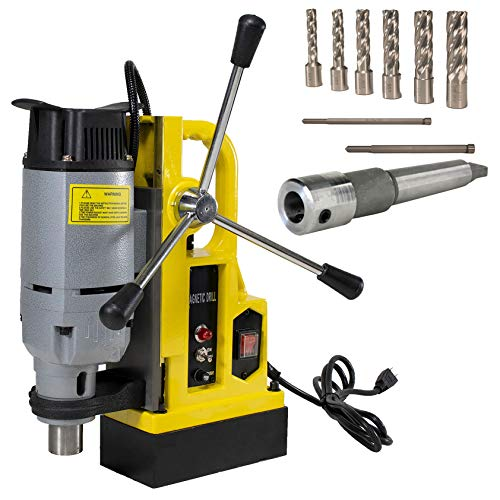 Lowest Prices! Steel Dragon Tools MD25 1in. Magnetic Drill Press and 7 Piece Small Diameter 2in. Cut...