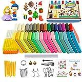 Arcilla de Polimérica, 36 Colores Segura y No Tóxica Horno Bake Modelado Craft Set y...