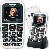 Le Classic Initial, Portable Senior pour Les + âgés/Handicap. Suppression Fausses MANIP : Blocage sélectif menus, appels, réglages, Boutons. Alerte Bat Faible SMS, Main Libre Auto, Photo-Contact, etc