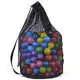 Bolsa de malla resistente para pelotas de fútbol, baloncesto, voleibol, color negro
