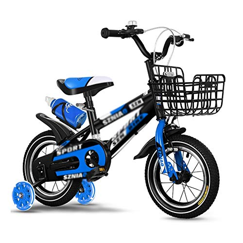 Bicicleta Niños AGYH Bicicleta Infantil con Estabilizador, Hervidor De Agua Y Ruedas Auxiliares De Goma Blanda, Altura del Manillar Asiento Ajustable, De Tres Colores Opcional