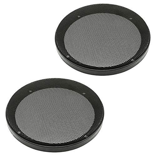 Altoparlante a griglia Grill 165 mm Nero, 2 teilig anello in plastica metallo griglia, set