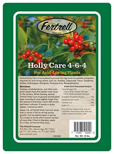 Fertrell Holly Care 4-6-4 Azalea Rhododendron Organic Fertilizer, 10lb or 25lb