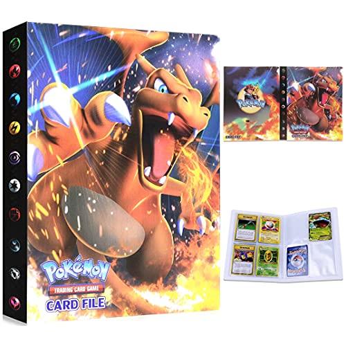 Dorara Porte Cartes Pokemon Album Album Classeur Livre 30 Pages Capacité de 240 Cartes (Charizard)