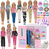 K.T.Fancy Doll Closet Wardrobe for 11.5 Inch...