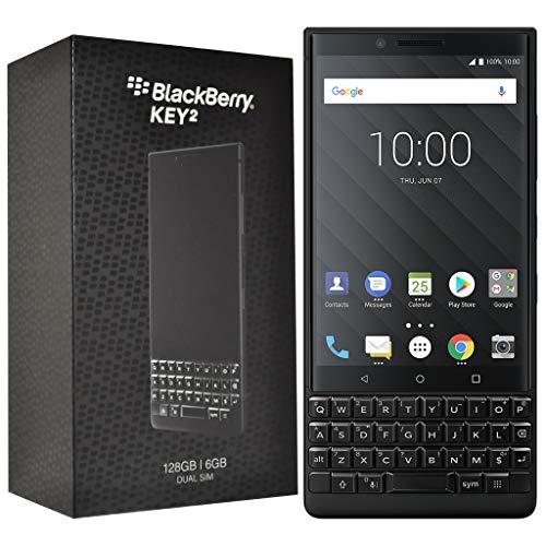 BlackBerry KEY2 128 GB (Dual-SIM, BBF100-6, QWERTY-Tastatur) Factory entsperrt SIM-Free 4G Smartphone (Schwarze Edition)