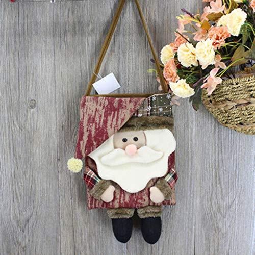 LLKK Bolsa de Dulces navideños,Bolsitas de Regalo Navidad, Resistentes y duraderos,decoración del hogar,Multiusos