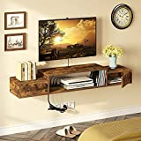Rolanstar Wall Mounted TV Shelf with Power Outlet, 55