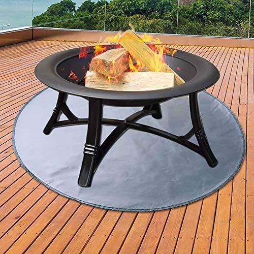 CRZJ Fire Pad Deck Protector, Fire Pit Mat Deck Protector, ideal für Grillmatten, Firepad, Patio Shield, feuerhemmendes, widerstandsfähiges Pad für den Außenbereich,24 inch
