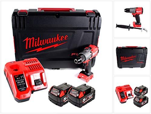 Milwaukee M18 Fuel FPD2-502X Schlagbohrschrauber M 18 FPD2 18,0 Volt / 5,0 Ah Li-Ion 4933464264 Akku-Bohrschrauber, 18 V