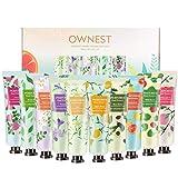 Ownest 10 Pack de extracto de frutas, fragancia, crema para manos, crema hidratante para el cuidado de las manos, juego de regalo de viaje con manteca de karité para hombres y mujeres, 30 ml