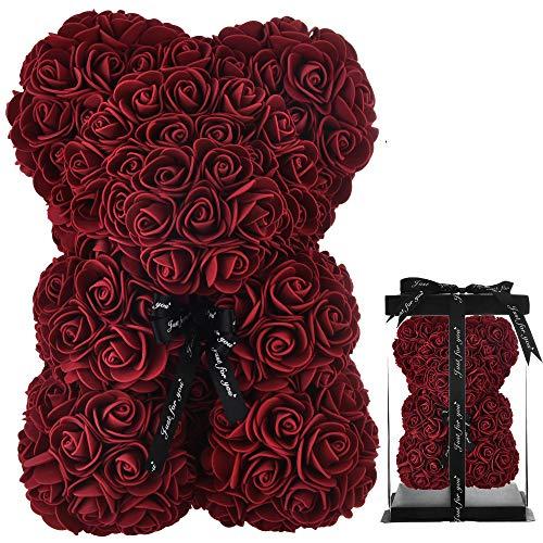 Rosen Teddybär rosenbär rosen bär Teddybär Rose Blumen Teddybär infinity ewige teddy deko,Geschenke Mutter Frauen Ihre Teen Girls Geschenke Mütter Geschenke Jubiläum-rosenbär mit geschenkbox (Burg&)