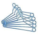 コモライフ ネオクリップハンガー5本組 パールブルー 洗濯物 フック 風 飛びにくい 首が伸びない 掛けやすい