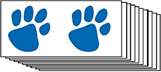 Blue Paw Prints Temporary Tattoos (10-Pack)   Skin Safe   MADE IN THE USA  Removable