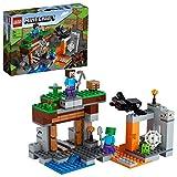 LEGO 21166 Minecraft La Mina Abandonada, Set de Construcción de la Cueva de Zombies con Figuras de Steve, Slime y Araña