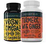 Freshfield Vegan Omega 3 and Vegan Turmeric | High Absorption and Support for Your Wellbeing | Plant Based and Plastic Negative